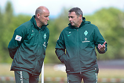18.07.2011, Oeschberghof, Donaueschingen, Trainingslager 2011 GER, 1.FBL, Werder Bremen Trainingslager Donaueschingen 2011, im Bild Thomas Schaaf (Trainer Werder Bremen) Klaus Allofs (Geschaeftsfuehrer Profifussball Werder Bremen)..// during the trainings session from GER, 1.FBL, Werder Bremen Trainingslager Donaueschingen 2011 on 2011/07/18,  Oeschberghof, Donaueschingen, Germany..EXPA Pictures © 2011, PhotoCredit: EXPA/ nph/  Kokenge       ****** out of GER / CRO  / BEL ******