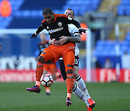Leon Clarke of Sheffield Utd held by David Wheater of Bolton during the FA Cup Second round match at the Macron Stadium, Bolton. Picture date: December 4th, 2016. Pic Simon Bellis/Sportimage