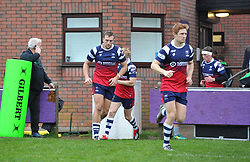 Bristol Bears United players run out to face Harlequins XV - Mandatory by-line: Paul Knight/JMP - 02/12/2018 - RUGBY - Clifton RFC - Bristol, England - Bristol Bears United v Harlequins - Premiership Rugby Shield