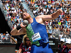 Ryan Crouser, USA,  second-place in shot put at 2019 The Prefontaine Classic Track & Field<br /> IAAF Diamond League