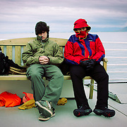 Bored whale watchers, Reykjavik, Iceland (August 2006)