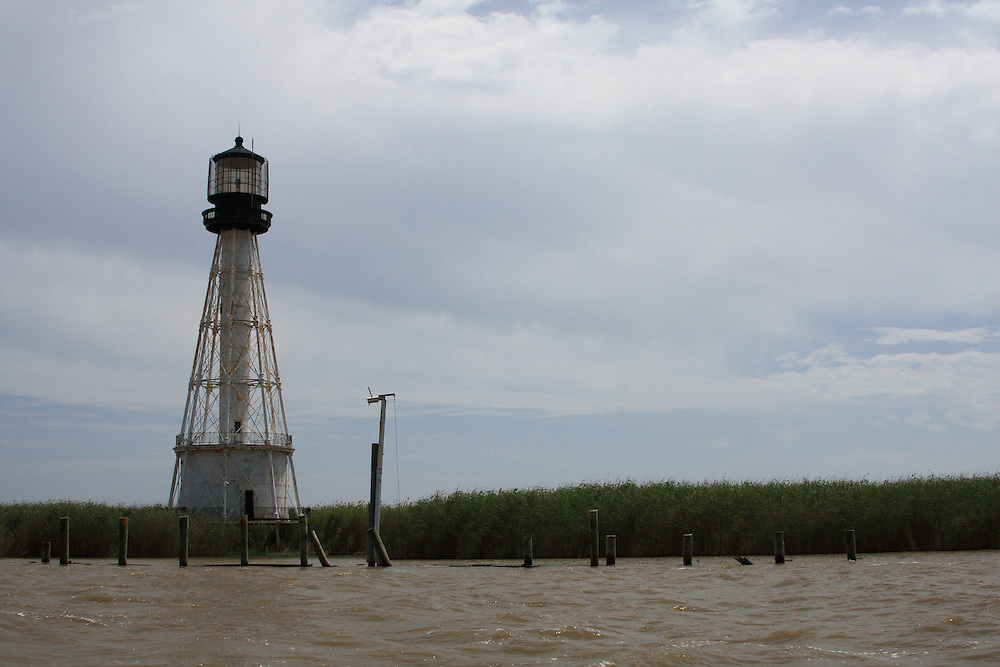 Approaching Port Eads Lighthouse