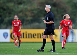 Referee Alan Berrow calls time on the last home game of the season for Bristol City Women  - Mandatory by-line: Paul Knight/JMP - 24/09/2016 - FOOTBALL - Stoke Gifford Stadium - Bristol, England - Bristol City Women v Durham Ladies - FA Women's Super League 2