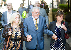 Rolf Harris arrives at Southwark Crown Court accompanied by daughter Bindi Harris (left), Southwark Crown Court, London, United Kingdom. Wednesday, 14th May 2014. Picture by i-Images