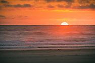 Sun setting over the Pacific - Long Beach, WA