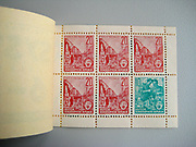 DDR [Deutsche Demokratische Republik (German Democratic Republic), official name of the former East Germany] stamp book of 20pf and 10pf stamps