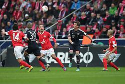 02.02.2013, Coface Arena, Mainz, GER, 1. FBL, 1. FSV Mainz 05 vs FC Bayern Muenchen, 20. Runde, im Bild von links: Julian BAUMGARTLINGER (FSV Mainz 05 - 14) - Toni KROOS (FC Bayern Muenchen - 39) - Nikolce NOVESKI (FSV Mainz 05 - 4) - Mario MANDZUKIC (FC Bayern Muenchen - 9) - Elkin SOTO (FSV Mainz 05 Kapitaen - 19) // during the German Bundesliga 20th round match between 1. FSV Mainz 05 and FC Bayern Munich at the Coface Arena, Mainz, Germany on 2013/02/02. EXPA Pictures © 2013, PhotoCredit: EXPA/ Eibner/ Gerry Schmit..***** ATTENTION - OUT OF GER *****