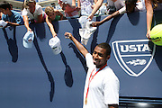 Cullen Jones at The 2008 Arthur Ashe Kids' Day held at The USTA Bille Jean King National Tennis Center on August 23, 2008 in Flushing, NY
