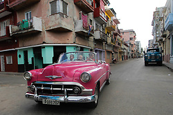 November 27, 2016 - Havana, Cuba - A view of Havana's city street just two days later after Fidel Castro, the former Prime Minister and President of Cuba dies on the late night of November 25, 2016, at age of 90. .On Sunday, 26 November 2016, in Havana, Cuba. (Credit Image: © Artur Widak/NurPhoto via ZUMA Press)