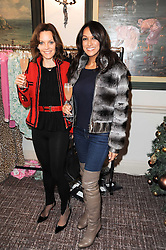 Left to right, KIMBERLEY GELBER and JACKIE ST.CLAIRE at a shopping afternoon hosted by Amanda Kyme and Tamara Beckwith featuring designs from Elizabeth Hurley held at the Cadogan Hotel, 75 Sloane Street, London SW1 on 23rd November 2010.