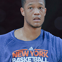 06 October 2010: New York Knicks forward Anthony Randolph #4 is seen prior to the Minnesota Timberwolves 106-100 victory over the New York Knicks, during 2010 NBA Europe Live, at the POPB Arena in Paris, France.