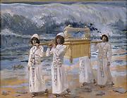 The Ark Passes Over the River Jordan [Book of Joshua] By James Jacques Joseph Tissot