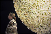 Nederland, Maastricht, 16-3-2012European Art Fair in het MECC. Dit is de grootste kunstbeurs in Europa en ter wereld. 25e editie. Een cirkel van witgele rozen bij de entree.Foto: Flip Franssen/Hollandse Hoogte