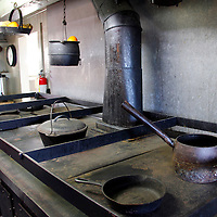 USA, California, San Diego. Galley of the Star of India Sailing Ship, at the San Diego Maritime Museum.