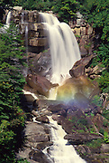 Waterfall with rainbow, North Carolina<br />