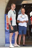 King Felipe VI of Spain arrives to Real Club Nautico on August 2, 2018 in Palma, Spain