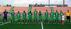 20 June 2015. New Orleans, Louisiana.<br /> National Premier Soccer League. NPSL. <br /> Jesters 1 - Knoxville 1.<br /> The New Orleans Jesters prepare to play Knoxville Force at home in the Pan American Stadium. Jesters drew 1-1 with Knoxville.<br /> Photo; Charlie Varley/varleypix.com