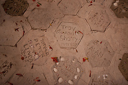 Pavers with Honeymooners' Names, Turtle Island, Yasawa Islands, Fiji