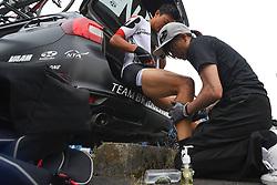 May 26, 2018 - Izu, Shizuoka, Japan - Japanese rider Kazushige Kuboki from Team Bridgestone Cycling at the start line of Izu stage, 120.8km on Izu-Japan Cycle Sports Center Road Circuit, the seventh stage of Tour of Japan 2018. .On Saturday, May 26, 2018, in Izu, Shizuoka Prefecture, Japan. (Credit Image: © Artur Widak/NurPhoto via ZUMA Press)