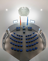 Model of Budestag inside the Parliamentary Historical Exhibition of the German Bundestag (Parlamentshistorische Ausstellung des Deutschen Bundestages) at Gendarmenmarkt in Berlin, Germany