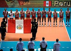 07-11-2010 VOLLEYBAL: WORLD CHAMPIONSHIP: PERU - KOREA: TOKYO<br /> Korea beat Peru with 3-1 / Line up Peru<br /> ©2010-WWW.FOTOHOOGENDOORN.NL