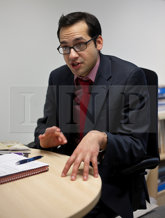 © under license to London News Pictures. 20/01/11. Aaron Porter, president of the National Union of Students (NUS) at the union's headquarters in London. Matt Cetti-Roberts/LNP