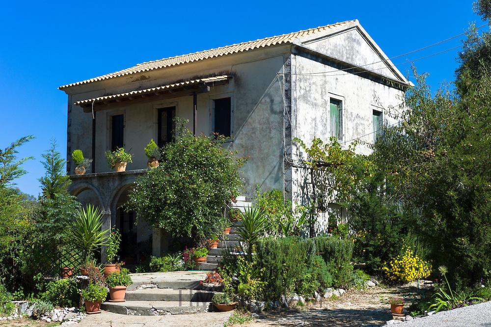 Typical Corfiot grand house in Perithia - Perithea - Northern Corfu, Greece