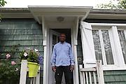 Cité expérimentale de Merlan, Noisy-le-Sec, France. Alex in his TC King house