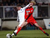 Fotball<br /> Auxerre v Monaco<br /> 14. mars 2004<br /> Foto: Digitalsport<br /> Norway Only<br /> <br /> TEEMU TAINIO (AUX) / JAROSLAV PLASIL (MON) <br /> <br /> <br /> <br />  *** Local Caption *** 40001084