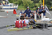 Henley, GREAT BRITAIN, 2012 Visitors' Challenge Cup, M4-, Oxford Brookes University and Molesey Boat Club, umpire, Richard PHELPS. at the Start.  Friday  12:10:29  29/06/2012    [Mandatory Credit, Intersport Images]. ...Rowing Courses, Henley Reach, Henley, ENGLAND . HRR