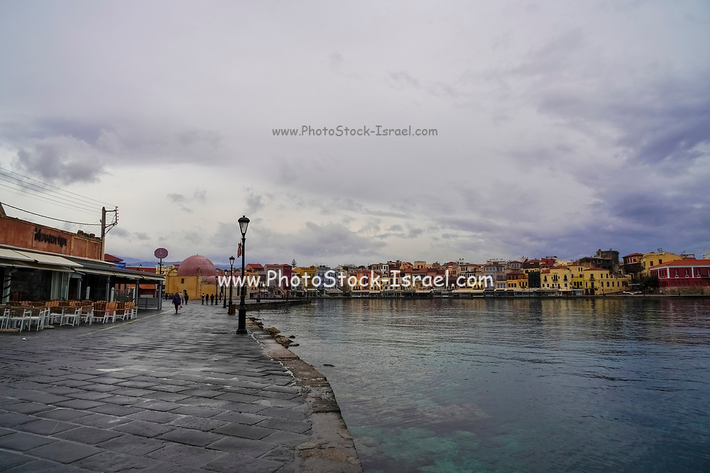 Venetian era harbour, Chania, Crete, Greece