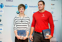 Tina Sutej and Matija Kranjc during the Slovenia's Athlete of the year award ceremony by Slovenian Athletics Federation AZS, on November 15, 2014 in GH Primus, Ptuj, Slovenia. Photo by Vid Ponikvar / Sportida