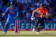 England T20 wicket keeper Jos Butler screams for a no run  during the International T20 match between England and India at Old Trafford, Manchester, England on 3 July 2018. Picture by Simon Davies.