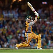 Australian batsman Brad Haddin in action during the Twenty20 International between Australia and New Zealand  at the Sydney Cricket Ground on the 15th February 2009. Australia won the thrilling match by one run. Photo Tim Clayton
