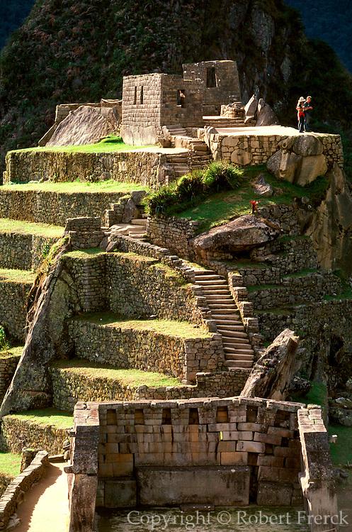 PERU, PREHISPANIC, INCA Machu Picchu; Intihuatana shrine