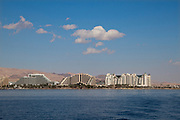 Eilat, Israel cityscape as seen from the Red Sea