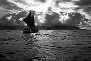 Hokulea Sailing Canoe, Kaneohe Bay, Oahu, Hawaii, USA (Editorial use only)