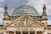 close up of the Reichstag rooftop dome in berlin Germany