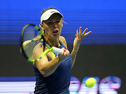 February 2, 2018 - St. Petersburg, Russia - CAROLINE WOZNIACKI against D. Kasatkina during WTA. St. Petersburg Ladies Trophy 2018 at SIBUR arena. (Credit Image: © Russian Look via ZUMA Wire)