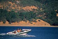 Recreational Boating on Lake Mendocino, Mendocino County, California