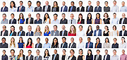 75 of the veolia head office team in full colour high key