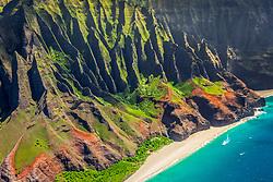 Kalalau Beach, Na Pali Coast, Kauai, Hawaii, USA, Pacific Ocean