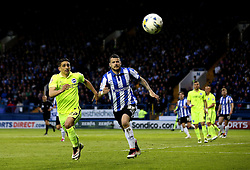 Anthony Knockaert of Brighton & Hove Albion and Daniel Pudil of Sheffield Wednesday chase the ball down - Mandatory by-line: Robbie Stephenson/JMP - 13/05/2016 - FOOTBALL - Hillsborough - Sheffield, England - Sheffield Wednesday v Brighton and Hove Albion - Sky Bet Championship Play-off Semi Final first leg