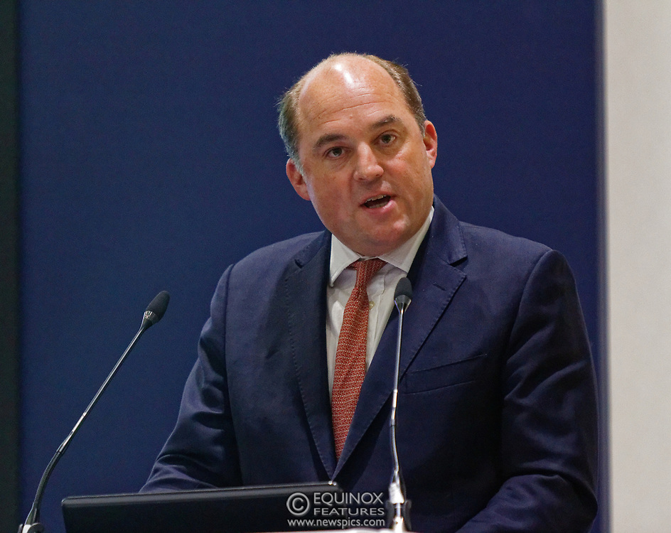 London, United Kingdom - 11 September 2019<br /> The Rt Hon Ben Wallace MP. Secretary of State for Defence for the UK Government presents keynote address speech to audience at DSEI 2019 security, defence and arms fair at ExCeL London exhibition centre.<br /> (photo by: EQUINOXFEATURES.COM)<br /> Picture Data:<br /> Photographer: Equinox Features<br /> Copyright: ©2019 Equinox Licensing Ltd. +443700 780000<br /> Contact: Equinox Features<br /> Date Taken: 20190911<br /> Time Taken: 12401123<br /> www.newspics.com
