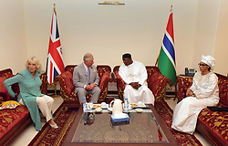 The Prince of Wales and Duchess of Cornwall at a meeting with President Adama Barrow and the First Lady Fatou Bah-Barrow at the State House in Banjul, The Gambia, on day two of their trip to west Africa.
