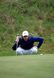 England's Tommy Fleetwood on the 10th green during day one of the Betfred British Masters at Hillside Golf Club, Southport.