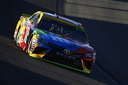 September 14, 2018 - Las Vegas, Nevada, United States of America - Kyle Busch (18) brings his car through the turns during qualifying for the South Point 400 at Las Vegas Motor Speedway in Las Vegas, Nevada. (Credit Image: © Chris Owens Asp Inc/ASP via ZUMA Wire)