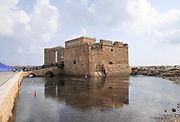 Cyprus, Paphos, The castle of Paphos at the entrance to the old port