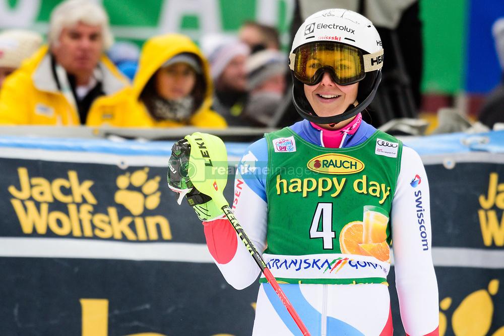 January 7, 2018 - Kranjska Gora, Gorenjska, Slovenia - Wendy Holdener of Switzerland competes on course during the Slalom race at the 54th Golden Fox FIS World Cup in Kranjska Gora, Slovenia on January 7, 2018. (Credit Image: © Rok Rakun/Pacific Press via ZUMA Wire)