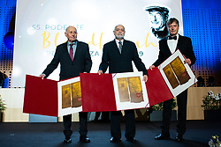 Vladimir Cermak, Boris Kutin and Milan Zvan at 55th Annual Awards of Stanko Bloudek for sports achievements in Slovenia in year 2018 on February 4, 2020 in Brdo Congress Center, Kranj , Slovenia. Photo by Grega Valancic / Sportida